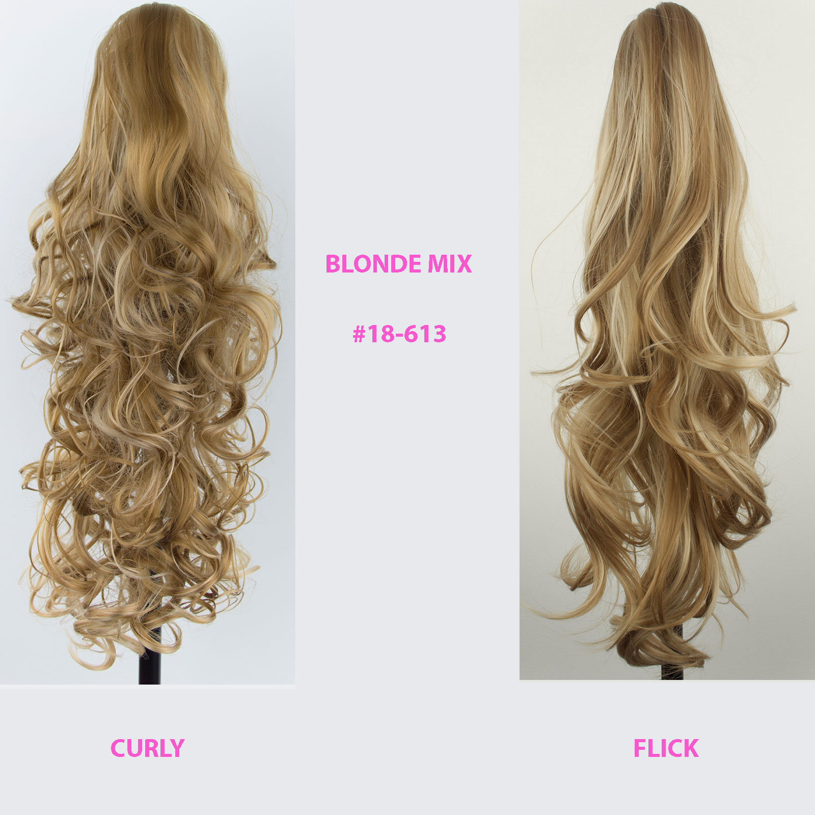 Ponytail clip in hair extensions blonde mix 18613 reversible 4 ponytail clip in hair extensions blonde mix 18 pmusecretfo Choice Image
