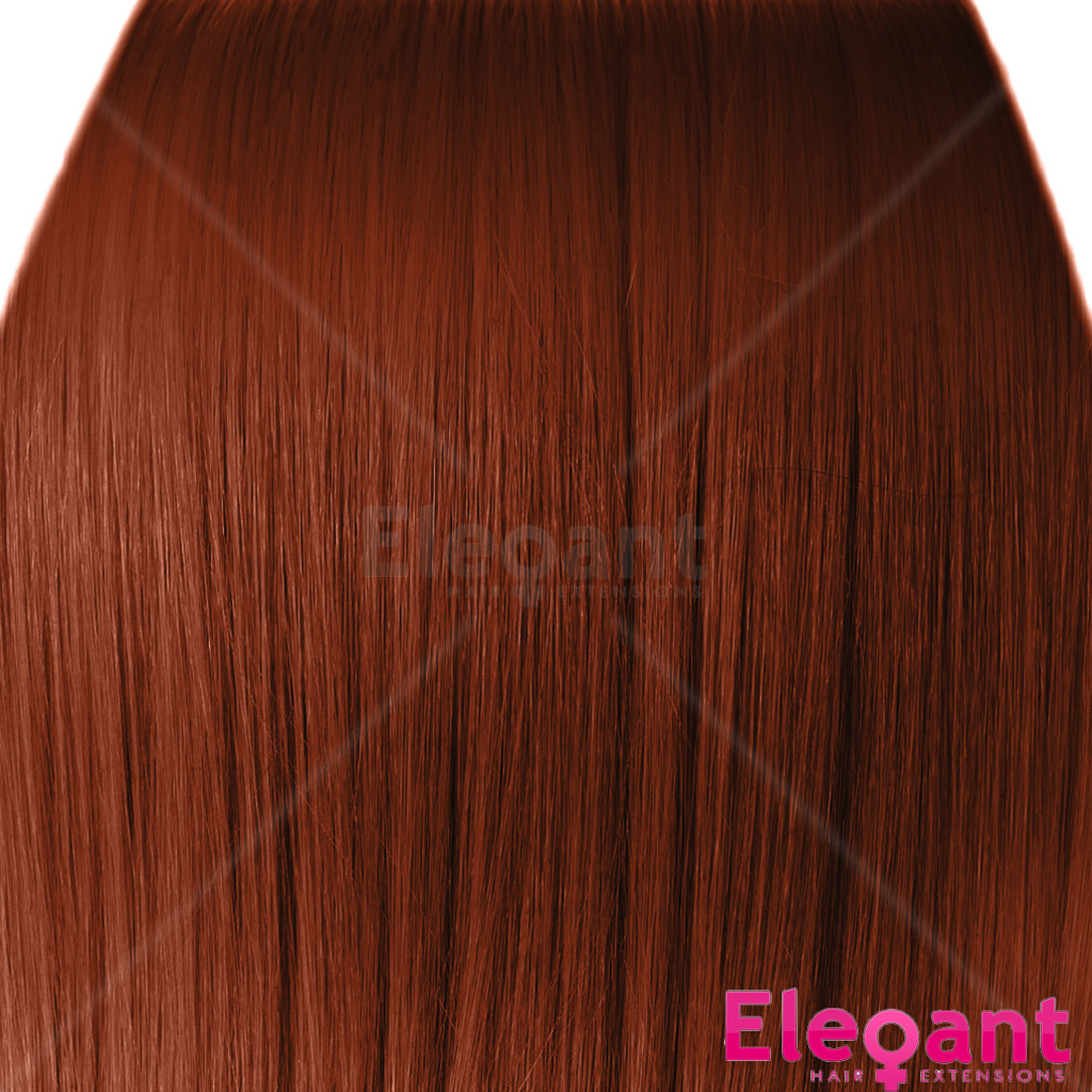 18 Quot Clip In Hair Extensions Straight Copper 350 Full Head