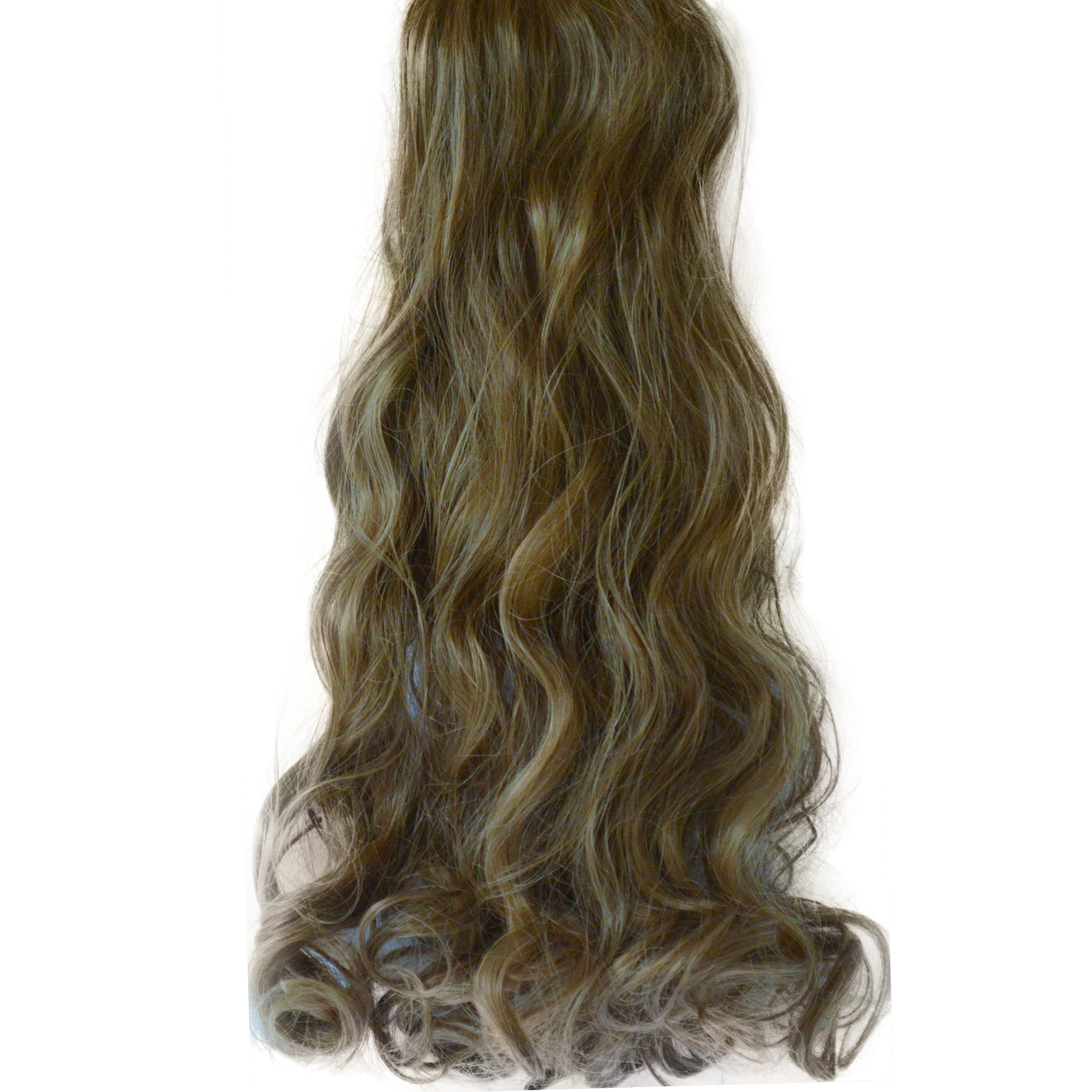 20 22 Quot Clip In Hair Extensions Curly Light Brown 12 Full