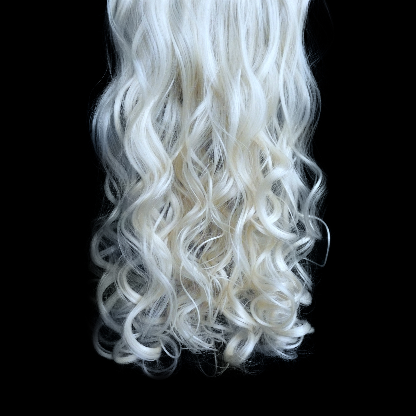 20 22 Quot Clip In Hair Extensions Curly Platinum Blonde 16