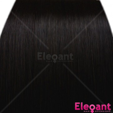 "20"" Clip in Hair Extensions HIGHLIGHTS Darkest Brown #2"