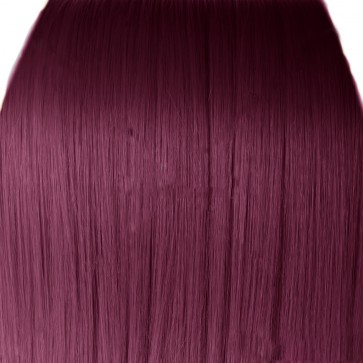 FRINGE BANG Clip in Hair Extensions Classic Style Rich Wine #35
