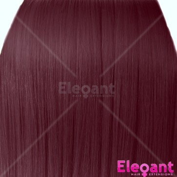 "20"" Clip in Hair Extensions STRAIGHT Cheryl Cole Red #99J FULL HEAD 8pcs"