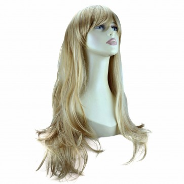 """20"""" Ladies Full WIG Long Hair Piece FLICK Style Blonde Mix #18/613"""