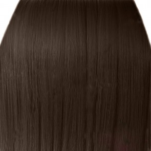 "15"" Clip in Hair Extensions STRAIGHT Light Chocolate Brown #12/18 FULL HEAD 8pcs"