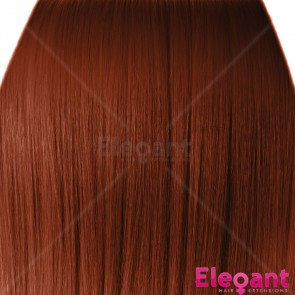 "15"" Clip in Hair Extensions STRAIGHT Copper #350 FULL HEAD 8pcs"
