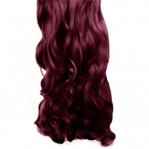 "20/22"" Clip in Hair Extensions CURLY Rich Wine #35 FULL HEAD 8pcs"