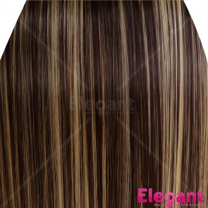 "22"" Clip in Hair Extensions STRAIGHT Dark Brown/Blonde Mix #4/613 FULL HEAD 8pcs"