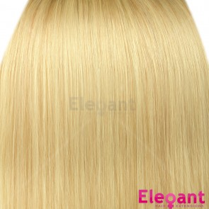 "18"" Clip in Hair Extensions STRAIGHT Light Blonde #613 FULL HEAD 8pcs"