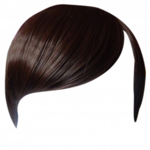 FRINGE BANG Clip in Hair Extension STRAIGHT Medium Brown #6