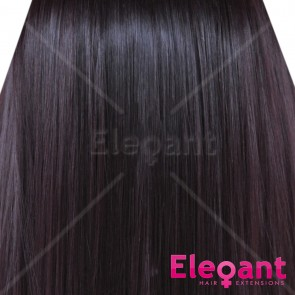 FRINGE BANG Clip in Hair Extensions Classic Style Dark Plum #99J/1