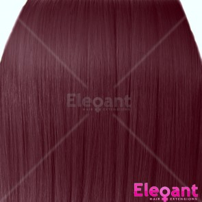 "22"" Clip in Hair Extensions STRAIGHT Cheryl Cole Red #99J FULL HEAD 8pcs"