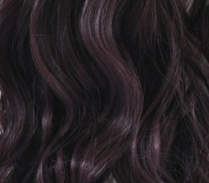 "23"" Clip In ONE PIECE WAVY CURLY Dark Plum #99J/1 1pc 5 Clips"