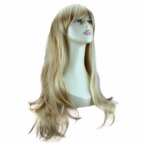 "20"" Ladies Full WIG Long Hair Piece FLICK Style Blonde Mix #18/613"