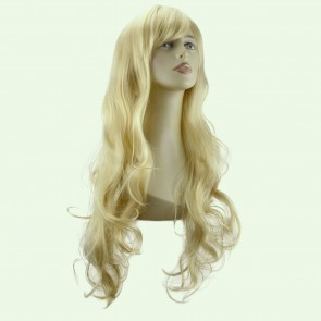 "22"" Ladies Full WIG Long Hair Piece LOOSE WAVES Light Blonde #613"