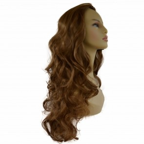 "22"" Ladies 3/4 WIG Half Fall CURLY Light Brown #12"