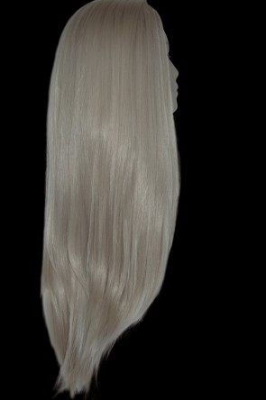 "22"" Ladies 3/4 WIG Half Fall STRAIGHT Champagne Blonde #22"