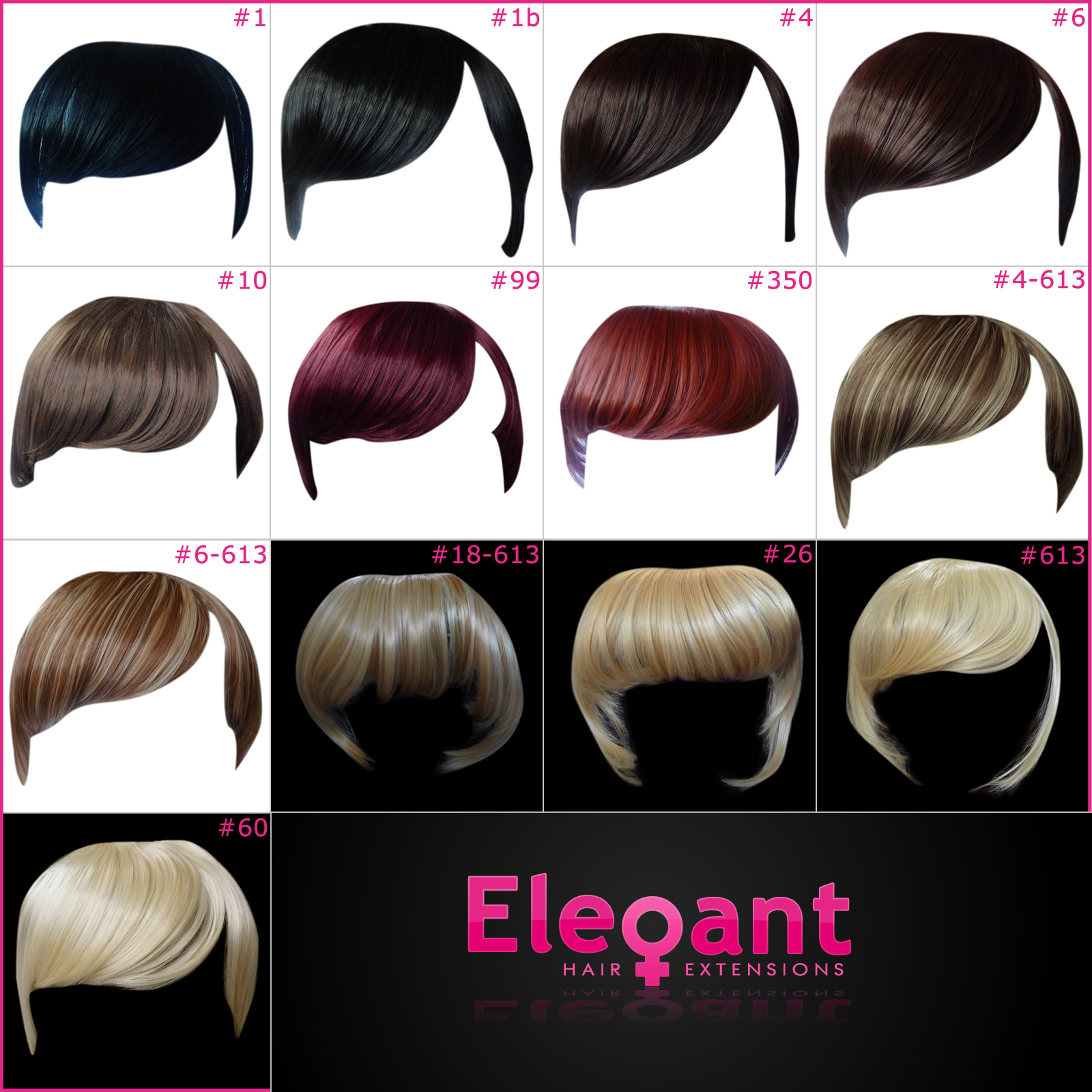 Fringe Bangs Clip In On Hair Extensions Straight Choose Any Colour
