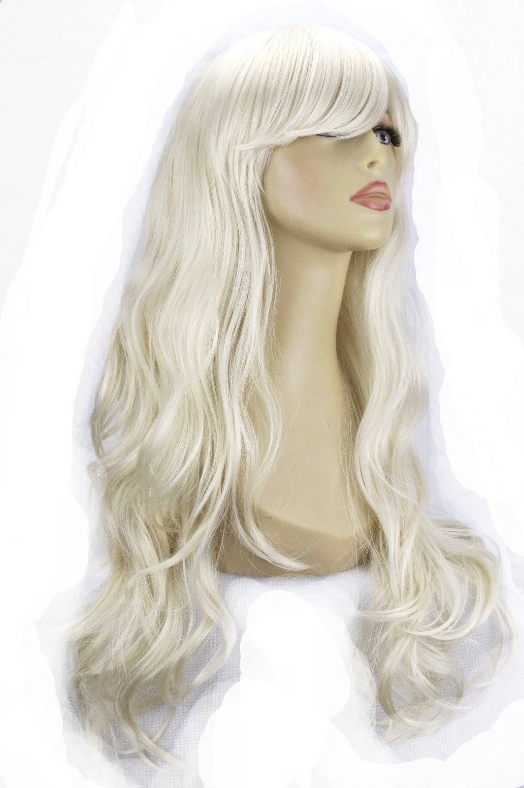 22 Quot Ladies Full Wig Long Hair Piece Loose Waves Platinum
