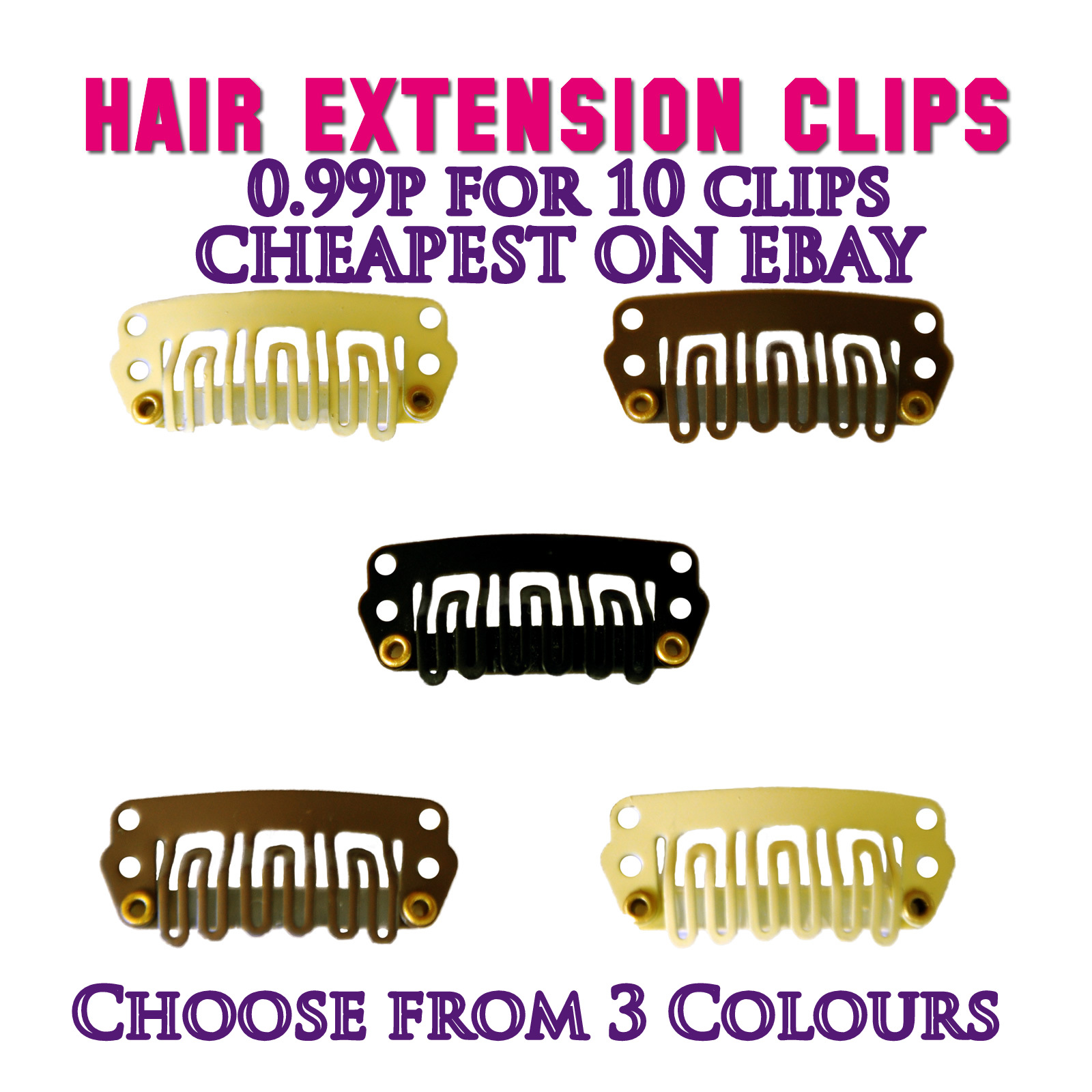 Blonde Hair Extension Snap Clips 60