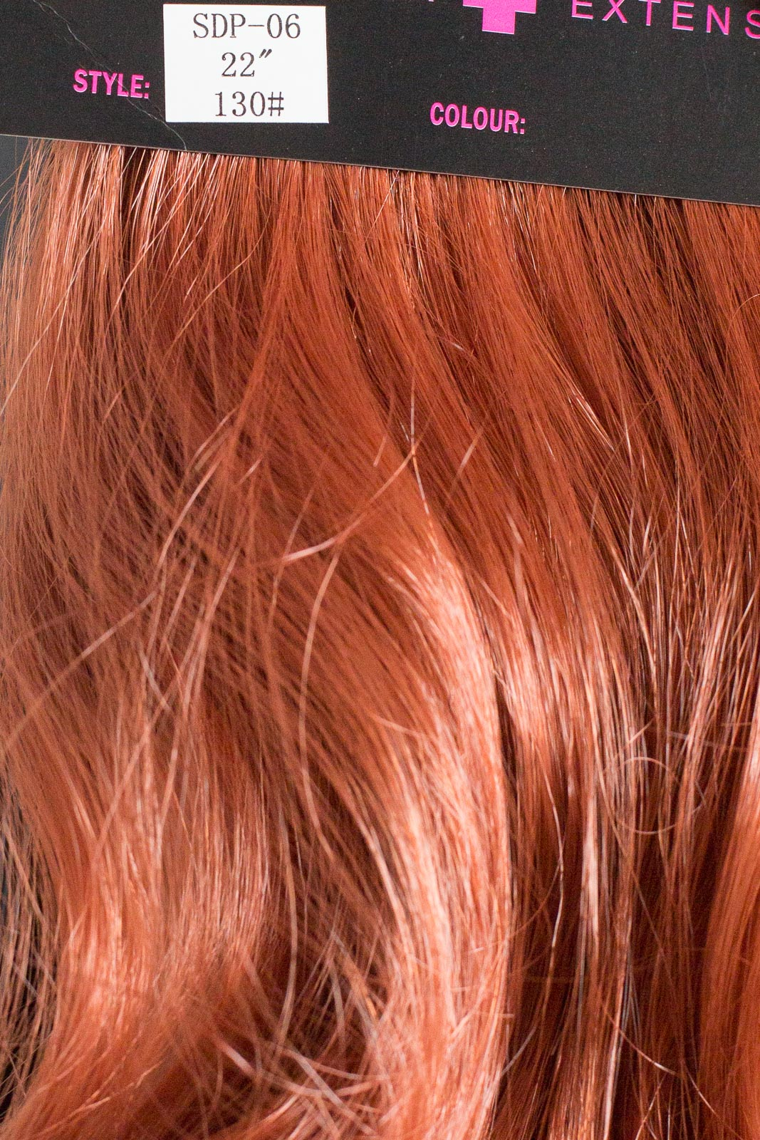 Ponytail Clip In On Hair Piece Extension Red Golden Ginger