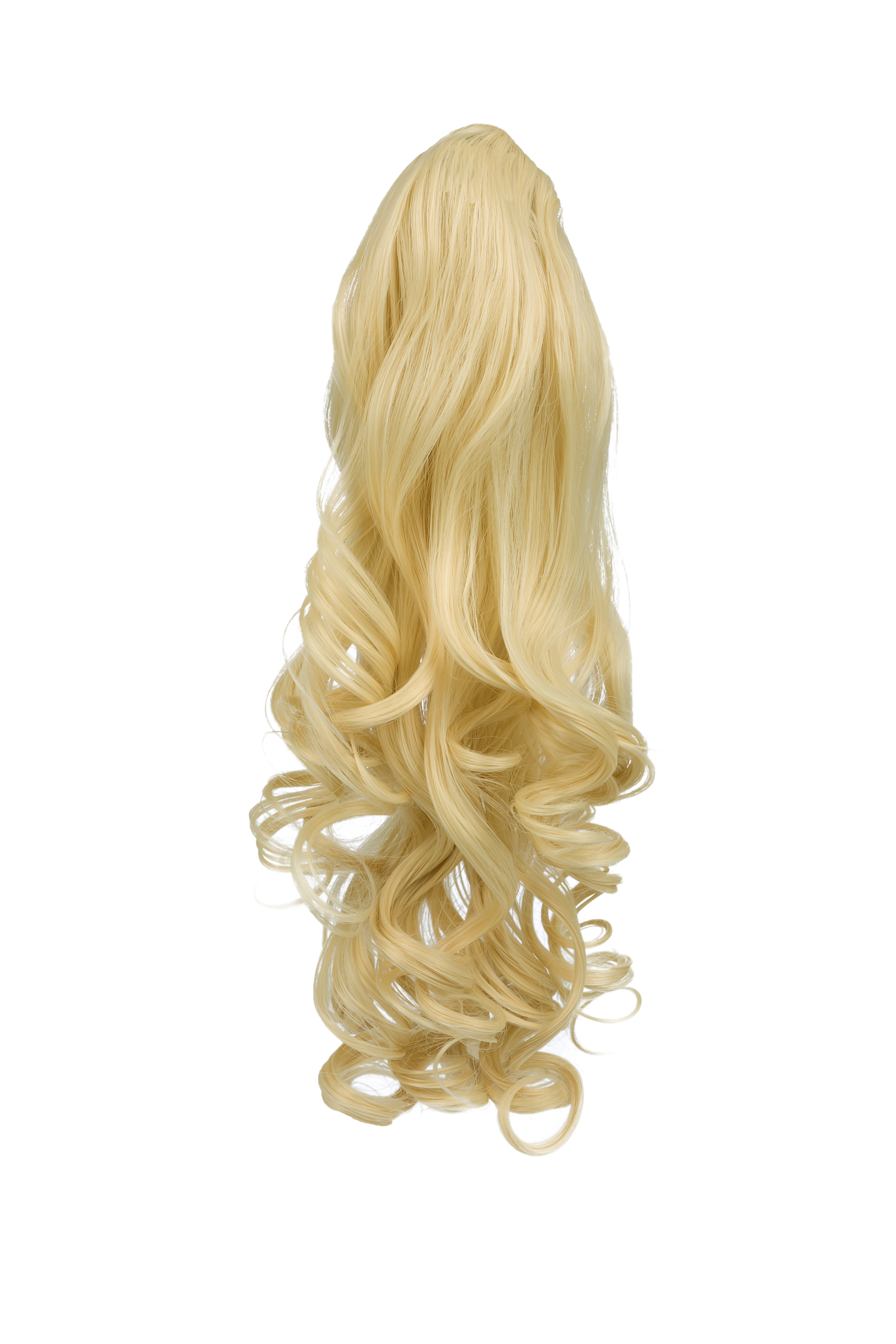 Ponytail Clip In Hair Extensions Lightest Blonde 60