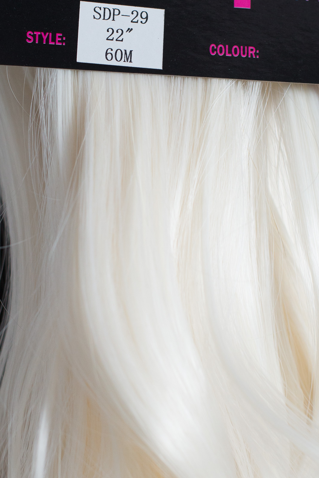 Ponytail Clip In On Hair Extensions White Blonde 60m