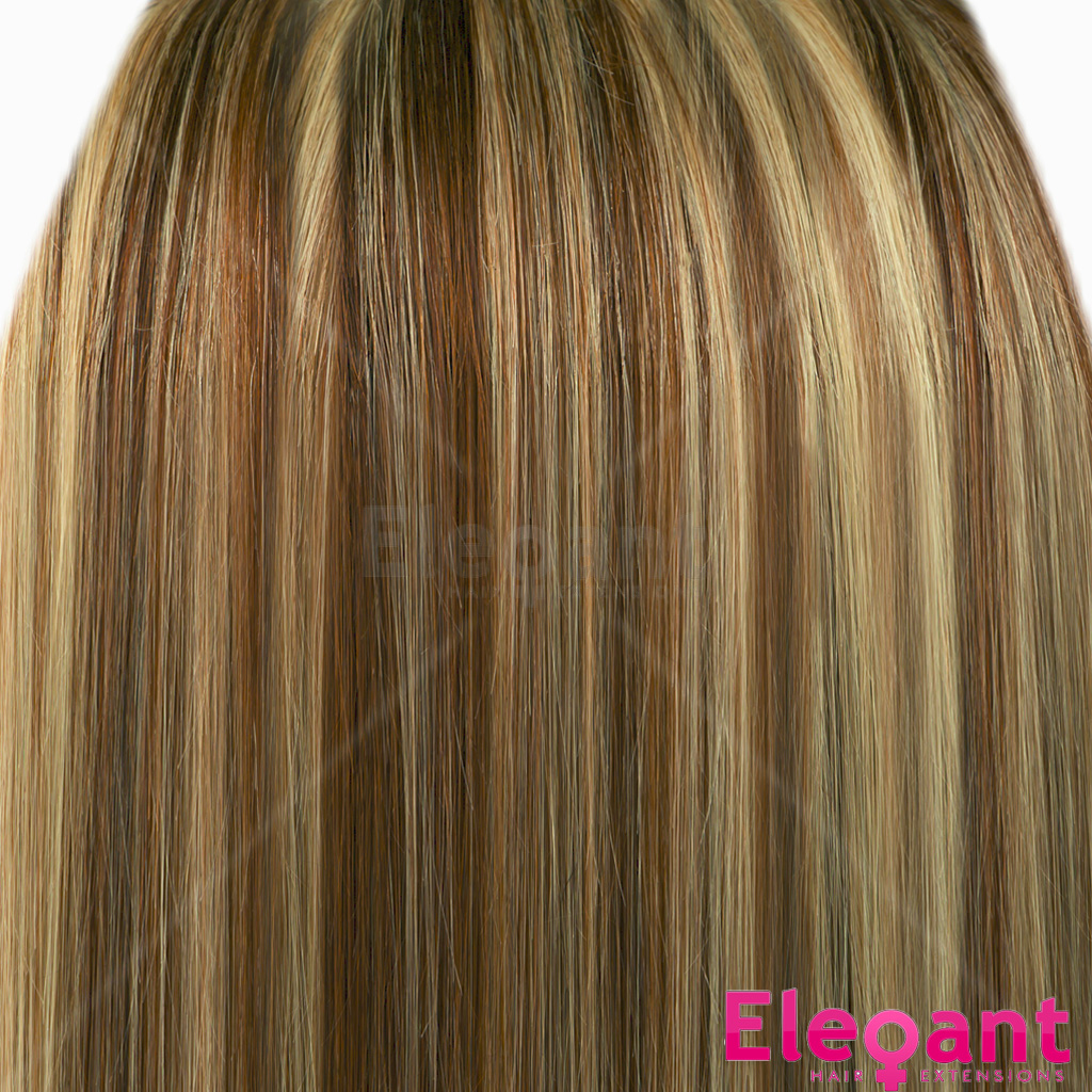 22 Clip In Hair Extensions Straight Medium Brownblonde Mix 6613
