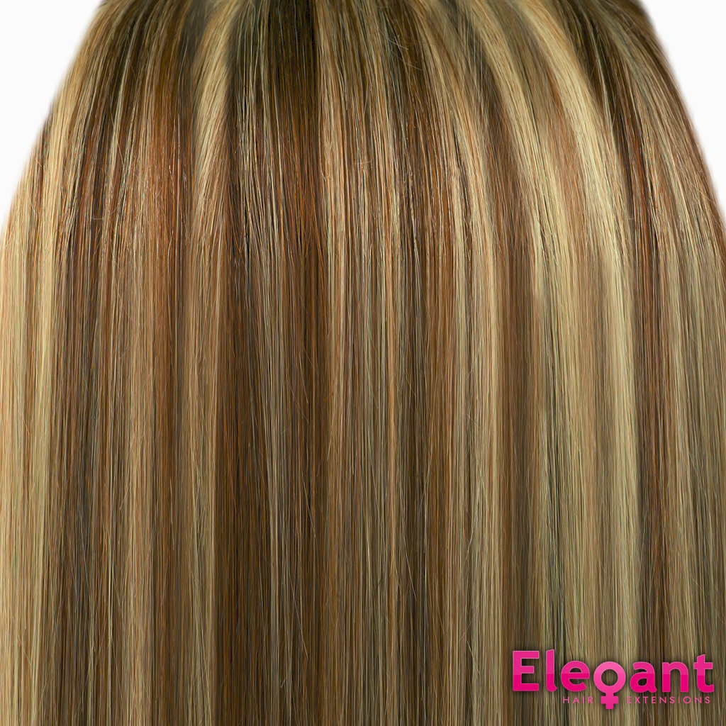 Clip In Hair Extensions Straight Medium Brownblonde Mix 6613 Full