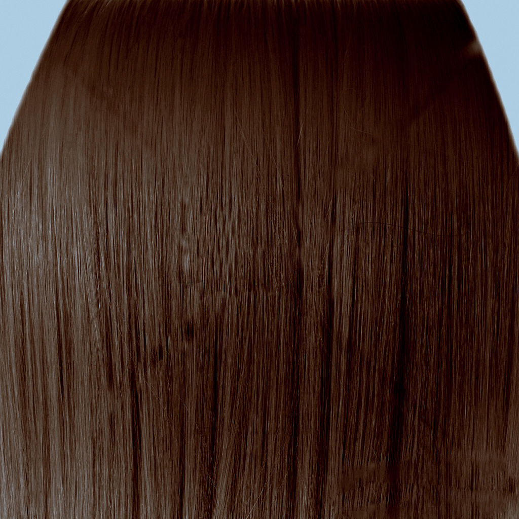 18 Clip In Hair Extensions Straight Chocolate Brown 8 Full Head 8pcs