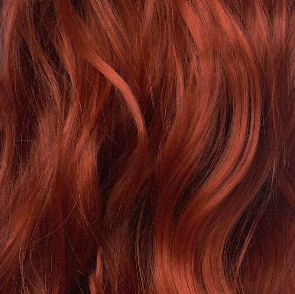 Ponytail Clip In Hair Extensions Copper 350 Reversible 4 Styles