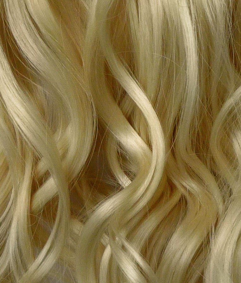 Ponytail Clip In Hair Extensions Light Blonde 613 Reversible 4