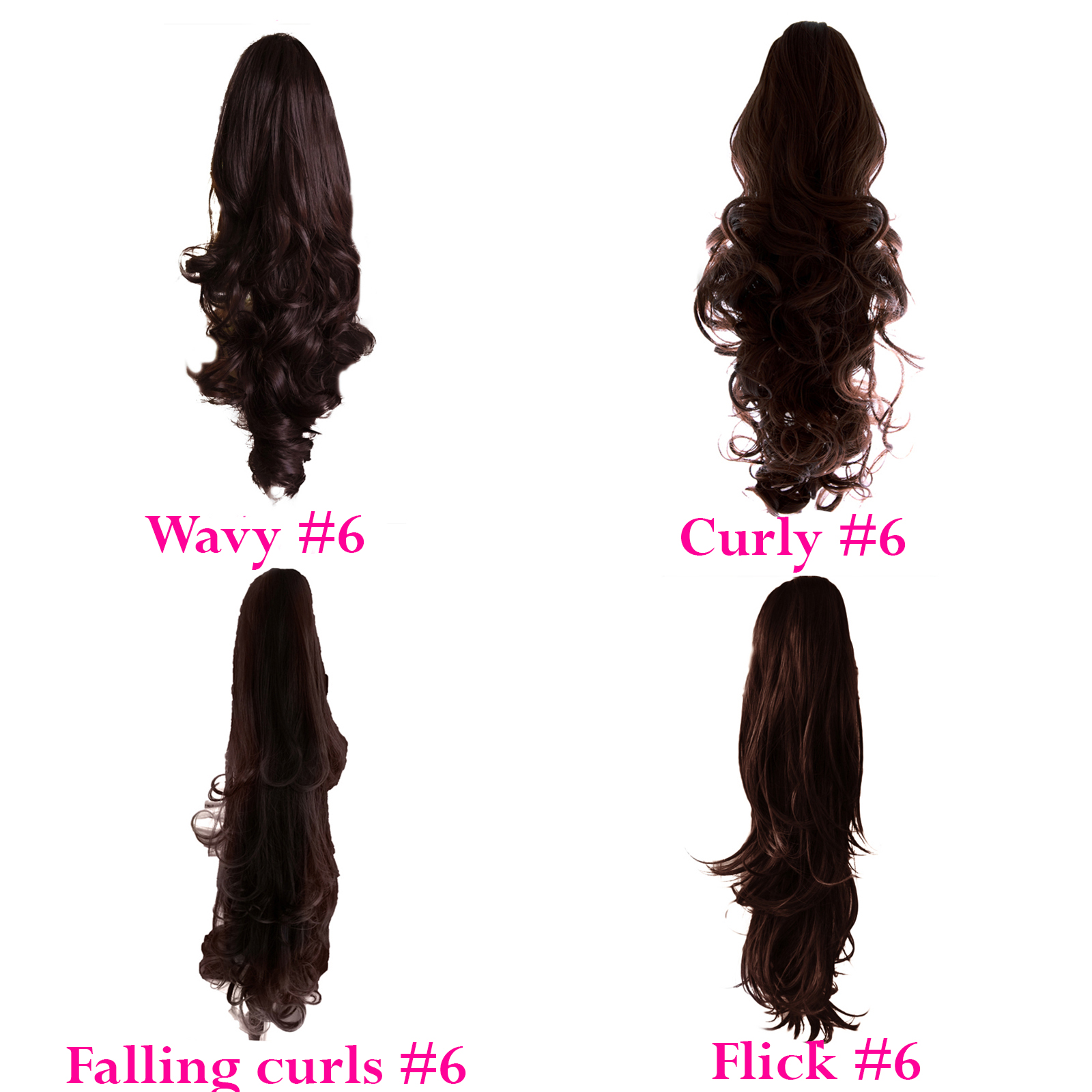 PONYTAIL-Clip-In-On-Hair-Extensions-REVERSIBLE-ALL-COLOURS-SIZE-amp-STYLE