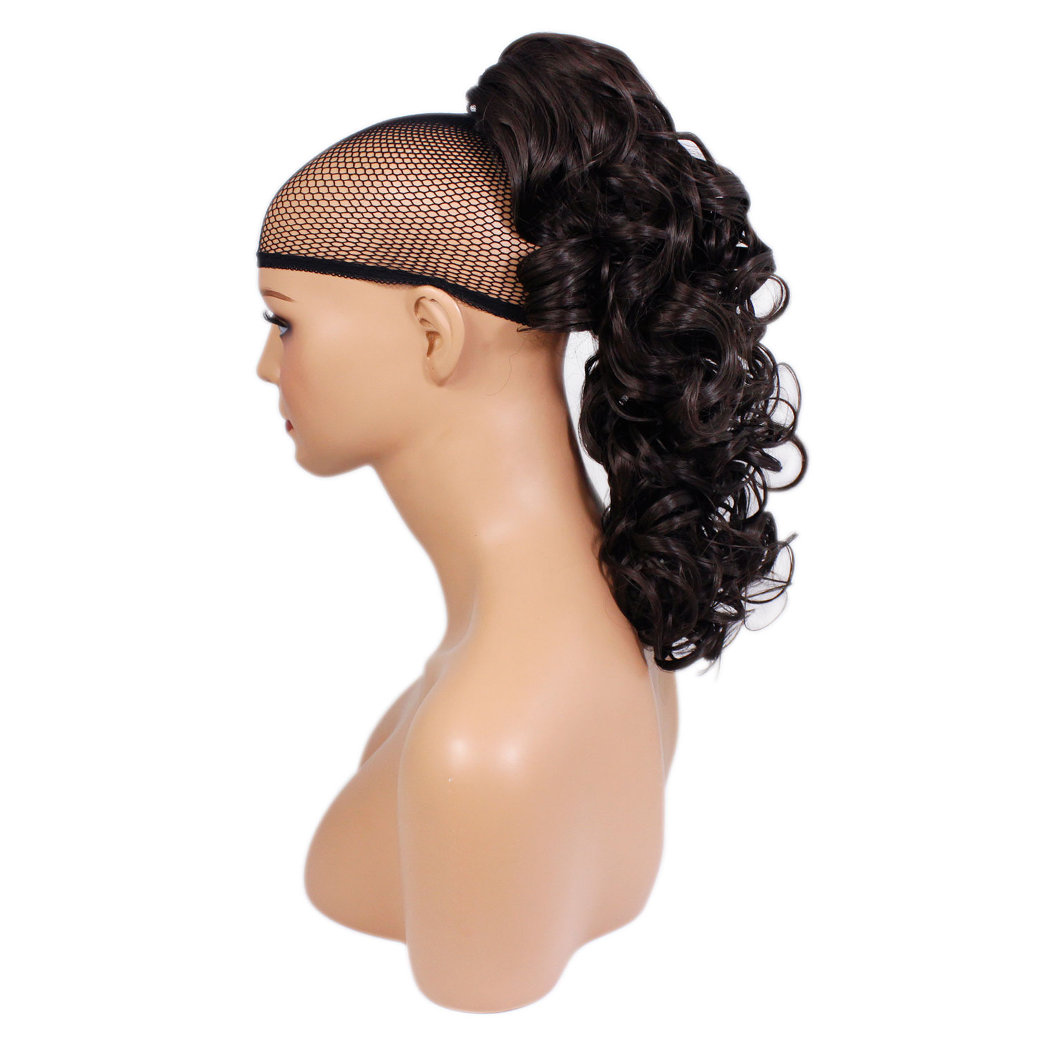 hair extensions style ponytail clip in on hair extensions brown 4 3886