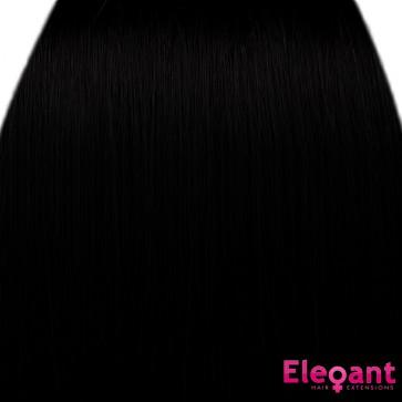 "18"" Clip in Hair Extensions STRAIGHT Jet Black #1 FULL HEAD 8pcs"