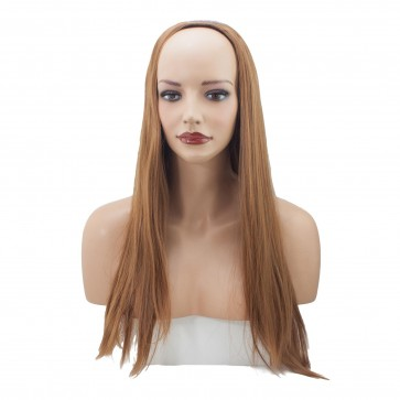 22 Inch Ladies 3/4 Wig Straight - Light Auburn