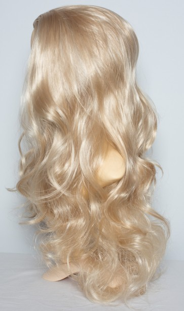 22 Inch Ladies 3/4 Wig Wavy - Ash Blonde