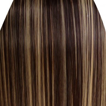FRINGE BANG Clip in Hair Extensions Classic Style Dark Brown/Blonde Mix #4/613