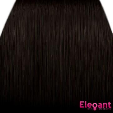 "15"" Clip in Hair Extensions STRAIGHT Dark Brown #4 FULL HEAD 8pcs"