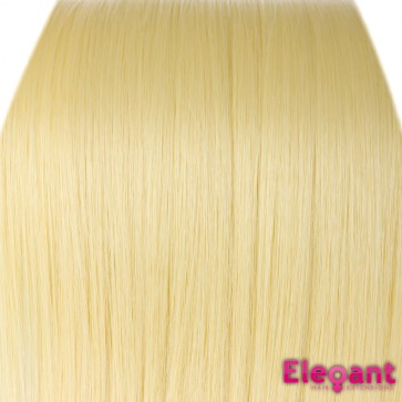 15 Inch Clip in Hair Extensions Straight 8pcs - Lightest Blonde