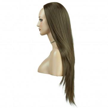 22 Inch Ladies 3/4 Wig Straight - Ash Brown