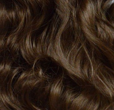 """23"""" Clip In ONE PIECE WAVY CURLY Light Chocolate Brown #12/18 1pc 5 Clips"""