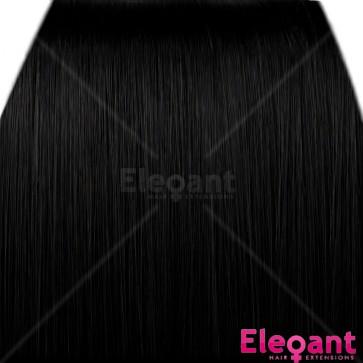"20"" Clip in Hair Extensions HIGHLIGHTS Black #1b"