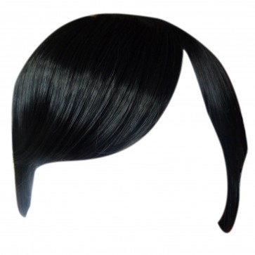 FRINGE BANG Clip in Hair Extension STRAIGHT Black #1b