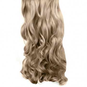 """20/22"""" Clip in Hair Extensions CURLY Champagne Blonde #22 FULL HEAD 8pcs"""