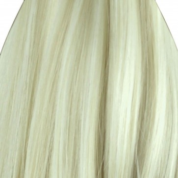 """23"""" Clip In ONE PIECE WAVY CURLY Swedish Blonde 1pc 5 Clips 100g"""