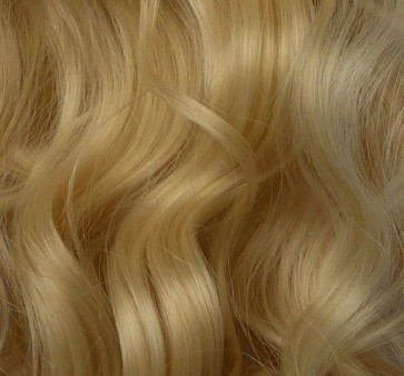 22 Inch Clip in Hair Extensions Curly 8pcs - Golden Blonde