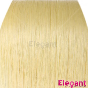 """18"""" Clip in Hair Extensions STRAIGHT Lightest Blonde #60 FULL HEAD 8pcs"""