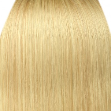 22 Inch Clip in Hair Extensions Straight 8pcs - Light Blonde