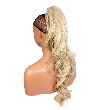 22 Inch Ponytail Flick Claw Clip - Bleach Blonde